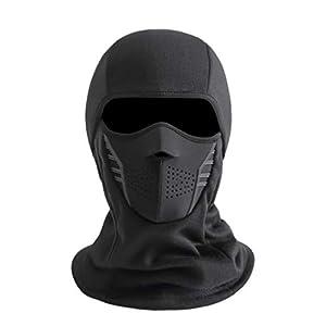 IRELIA Winter Windproof Fleece Ski Mask Balaclava Headwear Motorcycle Thermal Face Mask Bandanas Black