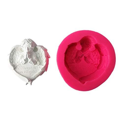 Waroomss - Molde de silicona para jabón, diseño de ángel