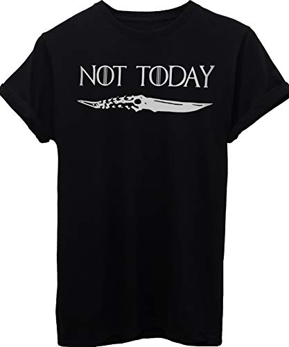 T-Shirt Not Today Arya Stark Quote Game of Thrones-Serie TV - Donna-M-Nera