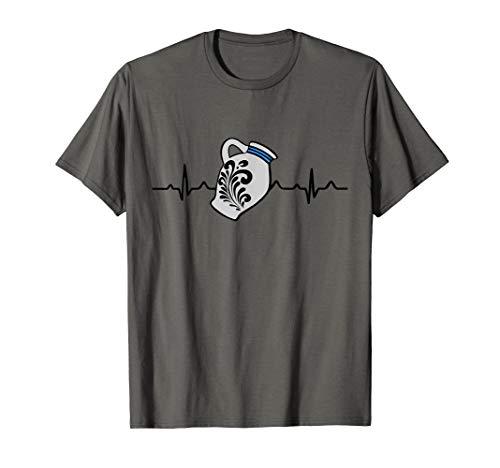 Bembel Herzschlag T-Shirt | Hessen Frankfurt Ebbelwoi