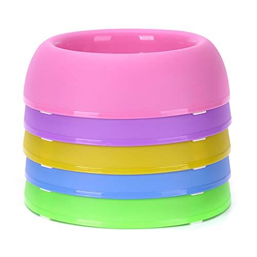 5 STÜCKE Pet Bowl Kreative Runde rutschfeste Kunststoff Hundenapf Katze Schüssel für Lebensmittel Wasser