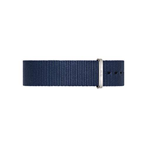 Daniel Wellington Classic Bayswater, Correa Reloj Azul/Plateado, 18mm, NATO, para Mujer y Hombre