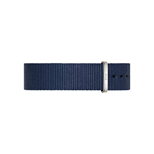 Daniel Wellington Classic Bayswater, Nachtblau/Silber Uhrenarmband, 18mm, NATO, für Damen und Herren
