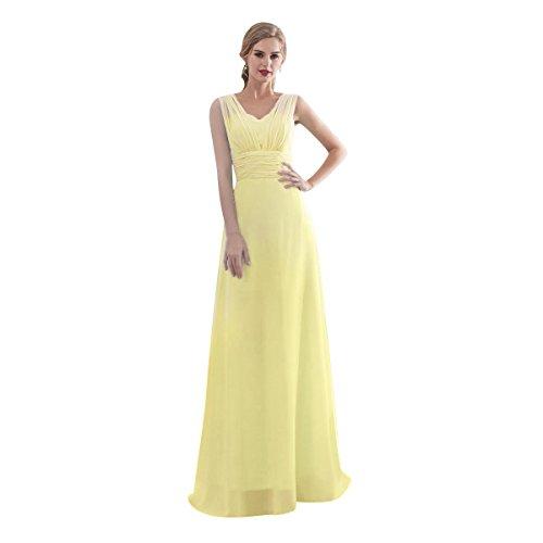 Vestido amarillo largo de fiesta