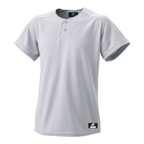 (エスエスケイ)SSK 2ボタンプレゲームシャツ(無地) BW1460 95 シルバーグレー M