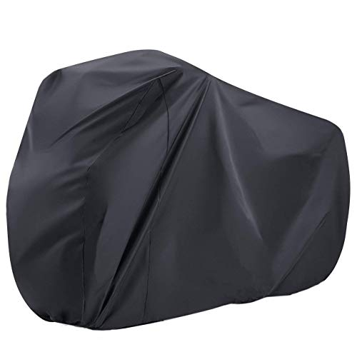 Maveek Black Bike Cover 190T Waterproof Bicycle Cover Large Sizes(78.7'' L 27.6'' W 43.3'' H) Rain Cover for Outdoor Bicycle Storage, Dust Resistant and UV Protection.
