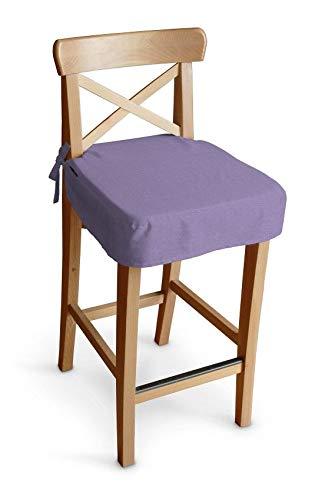 Dekoria Sitzkissen für Barhocker Ingolf Stuhlbezug Stuhlkissen passend für IKEA Modell Ingolf Lavendel