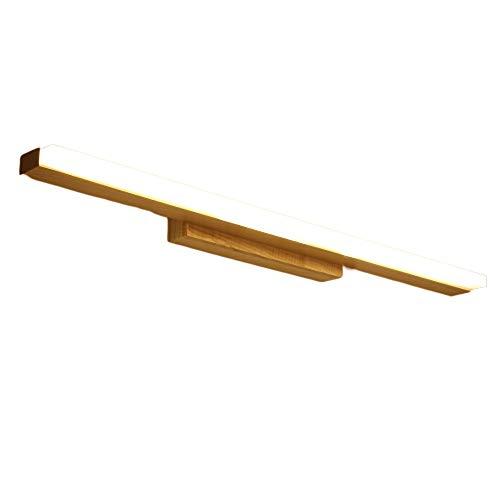 LED-spiegellamp voor de badkamer van hout, make-upspiegel en tafelkleed, waterdicht, voor de moderne slaapkamer, voor kinderkamer, BML0926