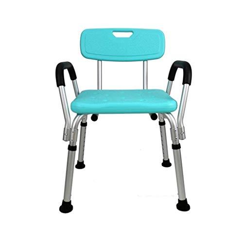ZXY-NAN Bathroom Wheelchairs Bath Stools Bathroom Stools Shower Stool Bathroom Seat Bath Chair with Armrests with backrest Non-slip Adjustable Height Lightweight Aluminum Elderly Disabled Pregnant Bea