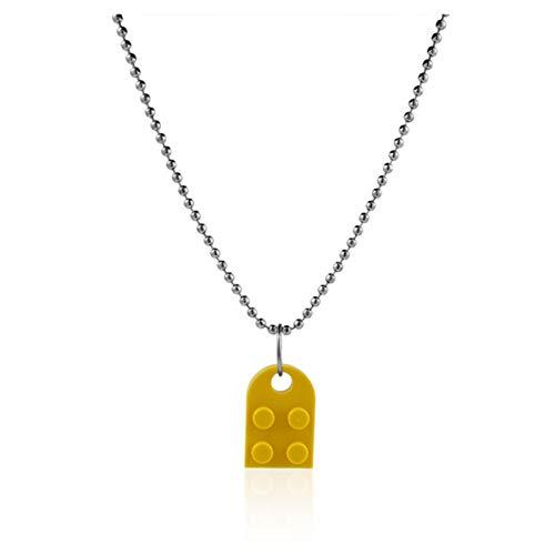 Heli Harajuku Bricks heart necklace colorful Lego for women men couples Valentine's Day gift egirl puzzle necklace Necklaces