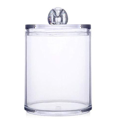 Logicstring Multifunktionale runde Empfangsbox Kunststoff-Wattestäbchenbox Kosmetisches Make-up Wattestäbchen Transparenter Behälter