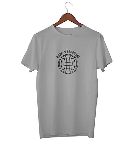 ASAP Worldwide Globe Earth Travel_KK018979 Shirt T-Shirt Tshirt for Men Für Männer Herren Gift for Him Present Birthday Christmas - Men's - Large - Grey