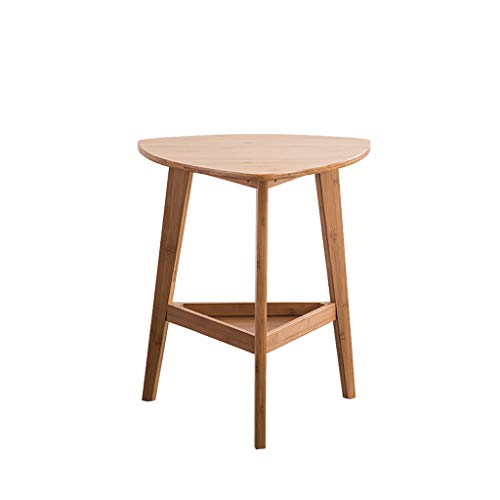LICHUAN Side Table Several Cabinets On The Sofa, Simple Bamboo Side Table, Mobile Coffee Table Casual Low Table End Table Easy Assembly