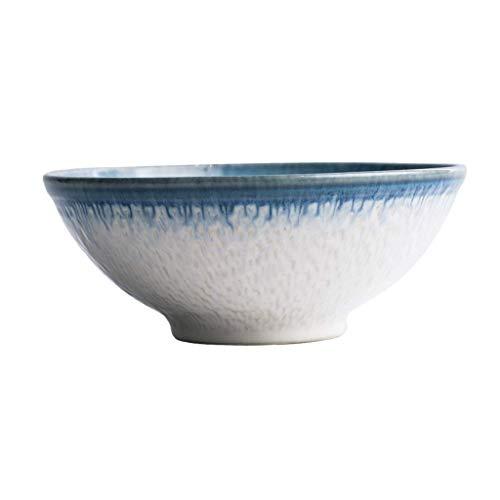 Keramikschale-Ramen-Nudel, Udon, Pasta, Suppe, Donburi-Schüssel/Servierschüssel Blaue Schüssel