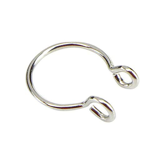 YYJDM-U-Shaped Fake Nose Ring Hoop Septum Ring Stainless Steel Nose Perforation Fake Perforation Perforation Jewelry,Steel