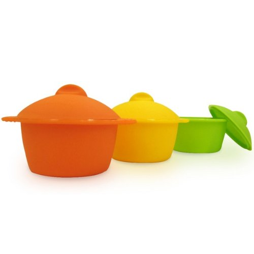 Yoko Design - Baby cocottes en silicone (Lot de 6)