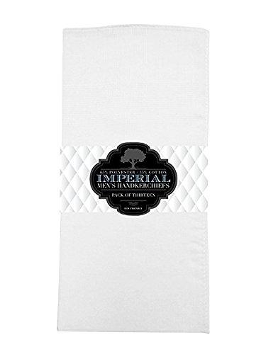 Imperial 13 Pack Men's Fine Handkerchiefs 100% Cotton- (Black)