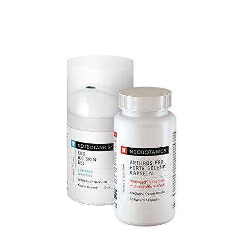 NEOBOTANICS® Perfect Duo ● Kühlendes Eisgel 50ml + Pro Gelenkkapseln Forte 60 Stück zur Knochen- und Gelenkbehandlung