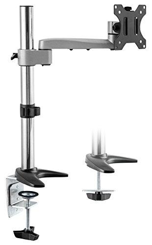 RICOO TS1611, Monitor-Ständer, Schwenkbar, Neigbar, PC Bildschirm-Ständer 13-30 Zoll (33-76cm), Schreib-Tisch Stand-Fuß, VESA 75x75 100x100, Silber