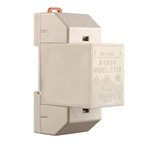 Byron 7770 transformator voor draaddeurbel, 8 V, wit