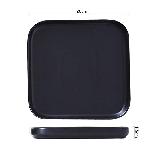 Blaue Einfache Westliche Lebensmittelsteakplatte Frühstücksteller Obstsalatteller Abendessen Teller Täglicher Teller