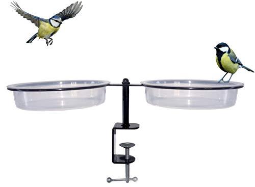 prisches BirdStation Vogeltränke Balkon Garten Vogelbad Balkongeländer Vogelfutterspender Futterspender Wildvögel Wassertränke Vogelhaus Vogelhäuschen