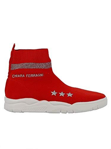 Chiara Ferragni Stivaletti Donna Cf1947red Tessuto Rosso