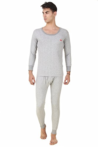 HAP Kings Quilted Thermal Set: Round Neck Top + Trouser (Light Grey)