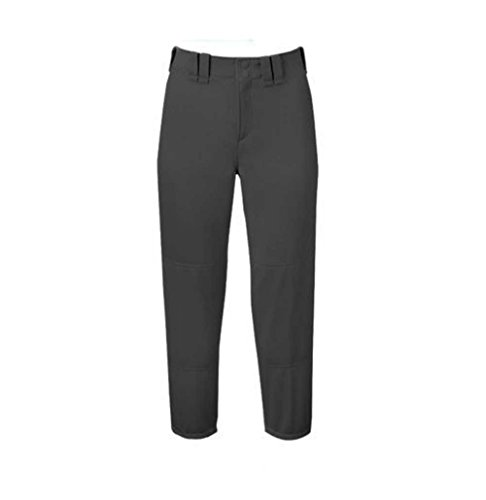 Mizuno Adult Women's Belted Low Rise Fastpitch Softball Pant, Dark Charcoal, Small