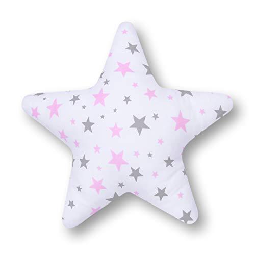Amilian Coussin en forme d'étoile KLEIN Rose 28 cm