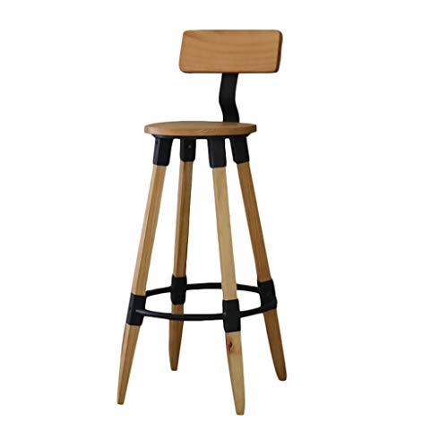 BAR Tabouret de en Bois Massif Dossier Chaise Haute Home Counter Chair Creative Coffee Tabouret de Salle à Manger personnalisé
