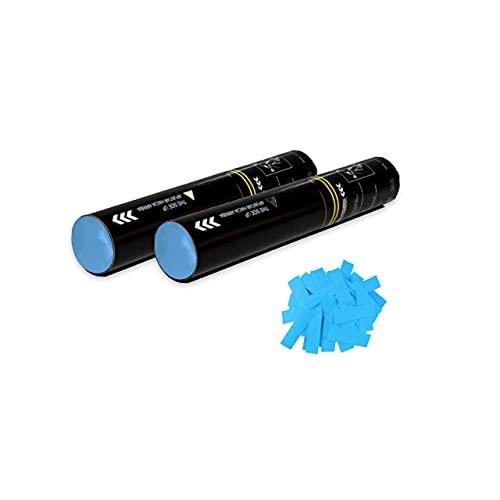 Lot de 2 Canons Confettis Manuel (Bleu Clair, 30 cm) | #DuBon