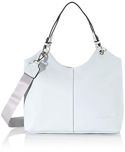 TOM TAILOR Denim Shopper Damen, Hellgrau, Kira, 32x12x30 cm, Handtasche, Umhängetasche