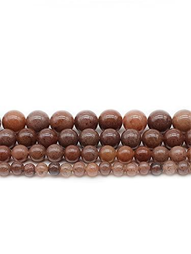 Cuentas sueltas de cristal natural de aventurina púrpura para hacer joyas DIY pulseras collar púrpura 10 mm aprox. 38 cuentas