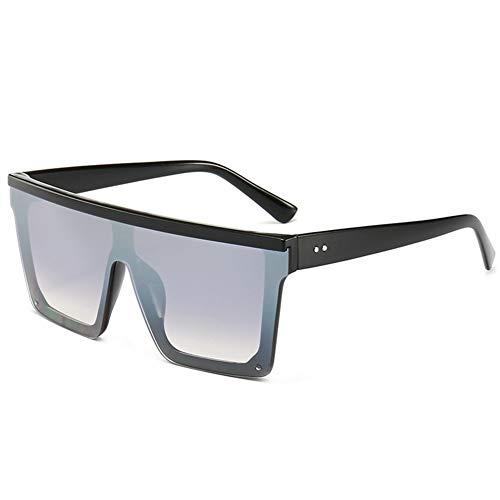 Plaza de Las Gafas de Sol Hombres Mujeres Espejo de la Manera UV400 Gafas de Conductor de conducción Gafas de Sol Hombre Flat Top Eyewear (Color : B)