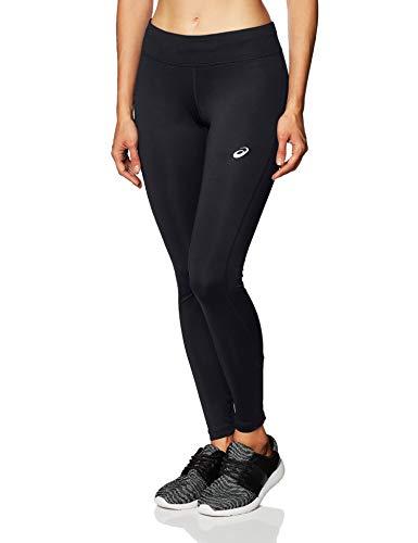 ASICS Mujer Silver Run Apretado Apretado, Mujer, Ajustado, 2012A028, Rendimiento Negro, S