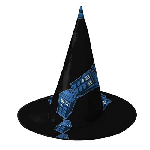 Sombrero de Halloween Tardis Signo de interrogacin Doctor Who Sombrero de Bruja Disfraz Unisex de Halloween para Fiesta de Carnavales de Navidad de Halloween Fiesta