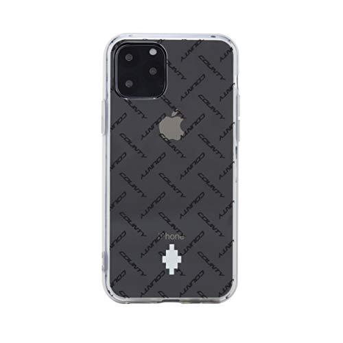 MARCELO BURLON COUNTY OF MILAN Cover/Custodia Compatibile con iPhone 11 PRO - Custodia Burlon Originale con Vetro temprato 9H - Semi-Flessibile -Trasparente e Antiurto - Protezione Frontale rialzata