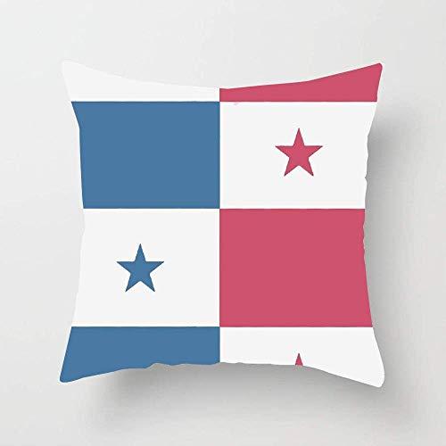 N\A Fodera per Cuscino per Cuscino Bandiera di Panama in Morbido Cotone per Divano Letto Auto