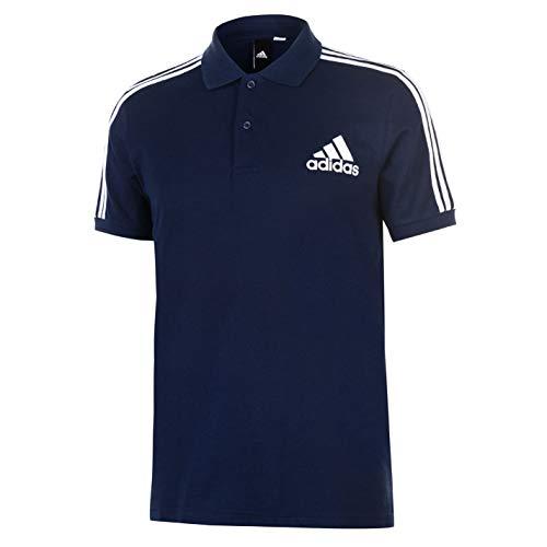 adidas Herren 3-Streifen Logo Poloshirt, Conavy, 2XL