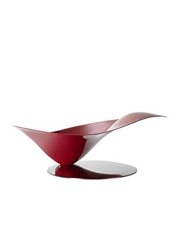 BUGATTI Casa Obstschale 21-PETALOI3, Stahl, Rot, 40 x 30 x 15 cm
