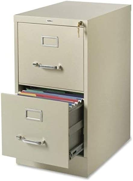 Lorell LLR42290 2 Drawer Vertical File 15 X 22 X 28 Putty