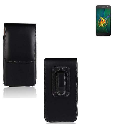 Für Motorola Moto G5s Plus Holster Gürtel Tasche Gürteltasche Schutzhülle Handy Tasche Schutz Hülle Handytasche Smartphone Hülle Seitentasche Vertikaltasche Etui Belt Bag Schwarz Für Motorola