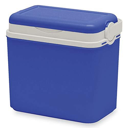 Kühlbox Kühltasche Kühlbehälter mit Deckel für Getränke Flaschen Speisen klein 10 Liter blau Camping Auto LKW Sport Garten Reise Strand Picknik Caravan Wandern robust einfach passiv Kühlboxen Styropor