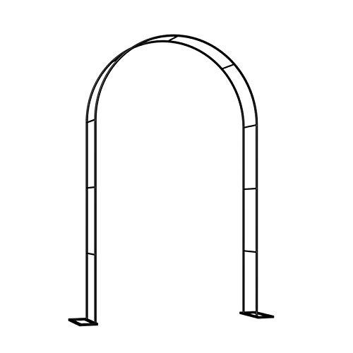 HLMBQ Arco de jardín Trellis, arco de metal, cenador de rosas, para escalar vides y plantas, bodas, decoración de fiestas, negro 140 x 230 cm, 200 x 230 cm, 200 x 230 cm, 200 x 230 cm