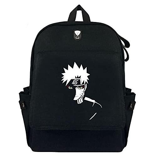 Mochila Anime Naruto Niños y Niñas Estudiantes Escuela Bolsa Gran Capacidad Al Aire Libre Ocio Viaje Bolsa Negro Unisex Casual Mochila Mochila Mochila Mochila