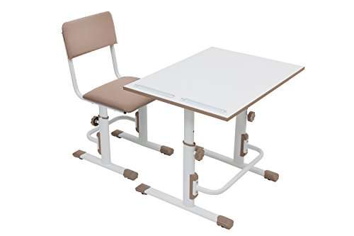 Polini Kids - Escritorio con silla (altura regulable), color blanco