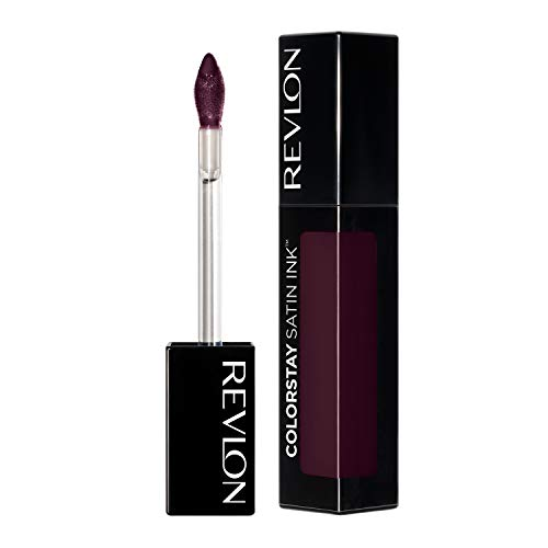 Revlon ColorStay Satin Ink Liquid Lipstick, Longwear Rich Lip Colors, Formulated with Black Currant Seed Oil, 022 Black Cherry, 0.17 fl. oz.