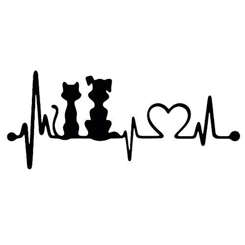promoción 19 * 8 cm Perro Gato Latido del corazón decoración de...