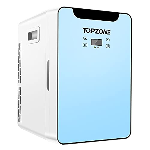 TOPZONE Portable Beverage Mini Refrigerator 20L 12V DC Compact Thermoelectric Cooler/ Warmer for Home and Travel